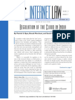 Regulation of Cloud in India
