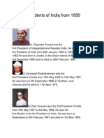 List of Presidents of India From 1950 Till Date