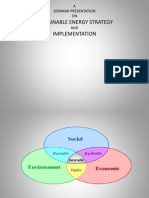 Sustainable Energy Strategy and Implementation