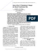1.Statistical Analysis of the Ac Breakdown Voltages of Ester Based Transformer Oils