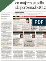 08-04-12 Imprimen Mujeres Su Sello a Contienda Por Senado - Norte
