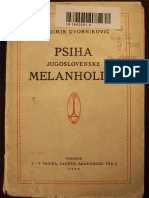 Vladimir Dvorniković - Psiha jugoslovenske melanholije