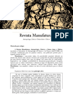 Revista Manufaturas - Chamada