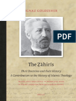 The Zahiris Their Doctrine and Their History by Ignaz Goldziher