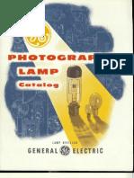 GE Photographic Lamp Catalog 1954
