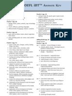 Direct to TOEFL iBT Answer Key