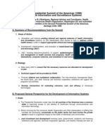 2nd Summit of the Americas (Chile 1998) Health Informatics PAHO Proposal