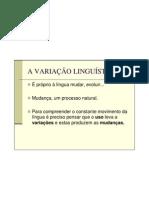 A Variacao Linguistica