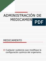 Adminitracion de Medicamentos