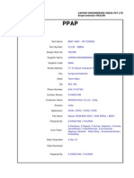 PPAP Front Sheet