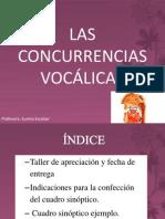LAS CONCURRENCIAS VOCÁLICAS