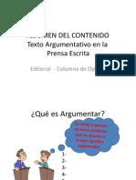 Resumen Hechos y Opinion Texto Argumentativo