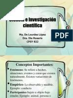 Ciencia e Investigación científica