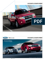 2009 Ford Escape Brochure from Miller Ford