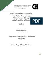 TrabajoEscrito. Congruencia,Semejanza, T.P.