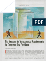 The Increase in Transparency Requirements for Corporate Tax Positions.
