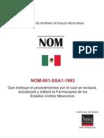 NOM-001-SSA1-1993