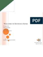 Sentence Sense Syllabus