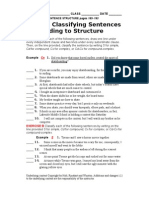 Classifying Sentence Structure 2