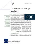 On Internal Knowledge Markets