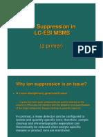 Ion Suppression Esi Ms-ms Primer