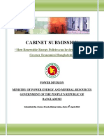 Cabinet Submission for Ministry of Energy , Mineral Resources and Power