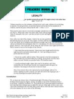 Street Preacher's Manual, Legality