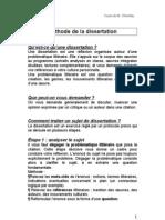 Chométy LM06 Méthode de la dissertation (synthèse)
