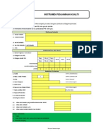 Instrumen Pemantauan Penjaminan Kualiti Pbs 2012