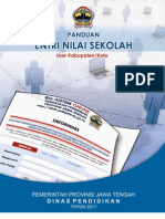 Panduan Singkat Input Nilai Semester 345 User Kabupaten