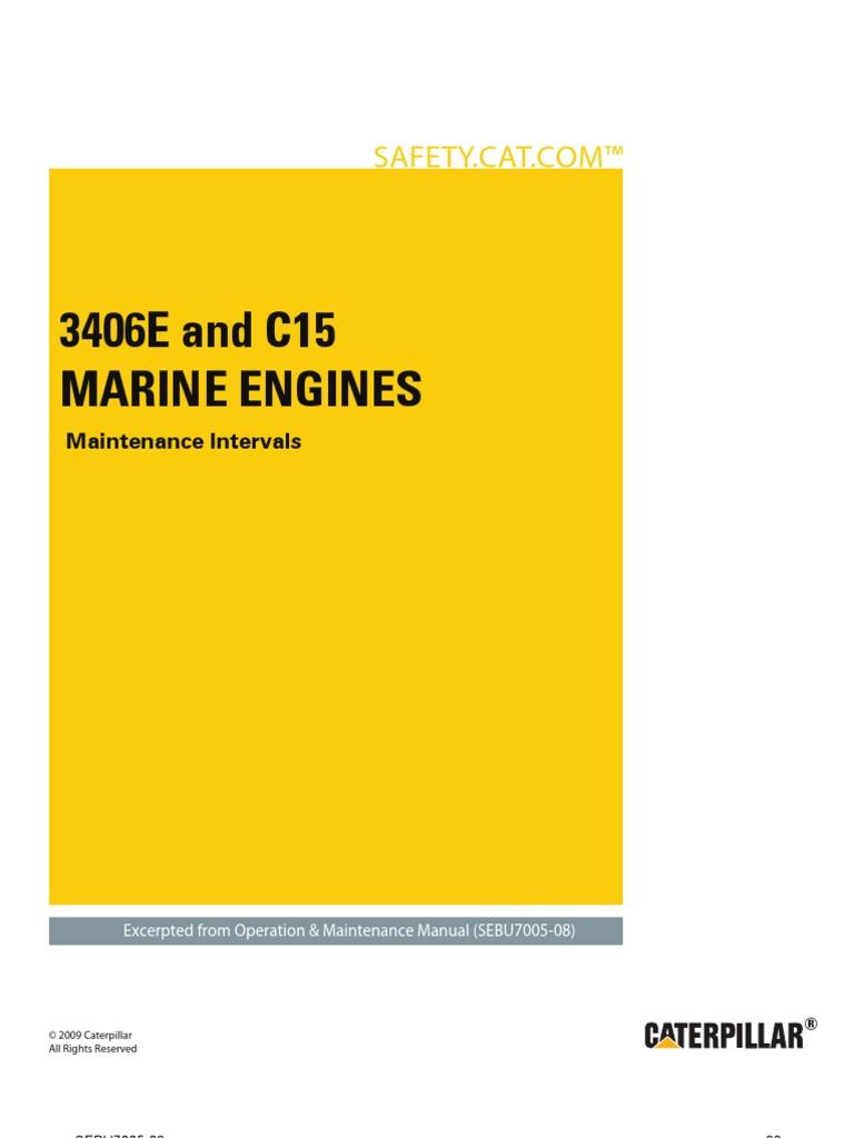 3406E+and+C15+Marine+Engines Maintenance+Intervals | Turbocharger