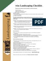 Firewise Landscaping Checklist