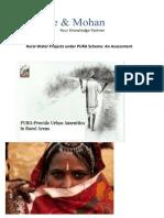 Assessment of PURA Rural Water Scheme