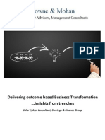 Delivering Outcome Based Business Transformation