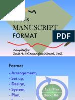Thesis Manuscript Format