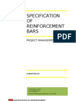 Specification - Reinforcement Bars