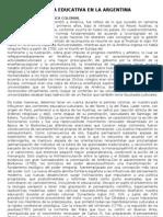 POLÍTICA EDUCATIVA EN LA ARGENTINA