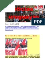 Noticias Uruguayas Lunes 9 de Abril de 2012