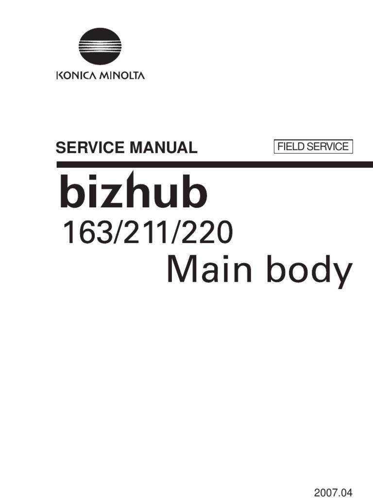 Filehost_KONICA MINOLTA BizHub 163, 211, 220 Field Service