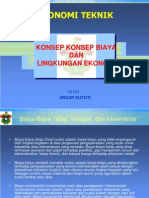 2. Konsep Biaya & Ling.ekonomi