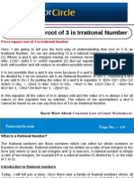 Prove Square Root of 3 is Irrational Number