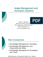Knowledge Management and Information Systems 2010