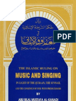 The Islamic Ruling on Music and Singing by Abu Bilal Mustafa Al-Kanadi