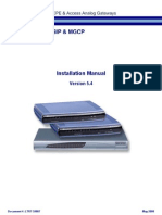 LTRT-59807 MP-11x and MP-124 SIP-MGCP Installation Manual Ver 5.4