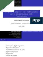Utilización de trifonemas como modelo acústico para el reconocimiento del habla
