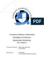 Stakeholder Marketing 2011 V1