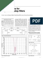 Novel Designs for Elliptic Bandstop Filters
