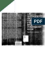 Bericat La Integracion de Los Met Cuantitativos y Cualitativos
