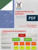 Clasificación de los Deportes, Plantillas de observación, Métodos de observación. C. Sánchez.