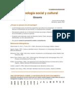 Glosario Antropología social y cultural